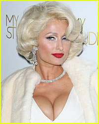 Paris Hilton Channels Marilyn Monroe at Perfume Launch
