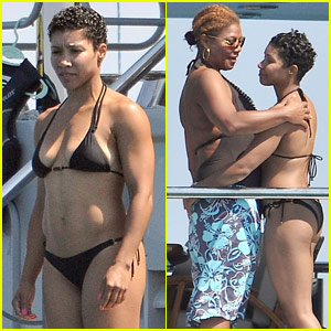 Queen Latifah & Jeanette Jenkins: PDA Pair