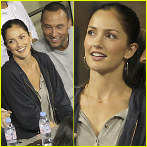 Derek Jeter & Minka Kelly: Tennis Twosome!