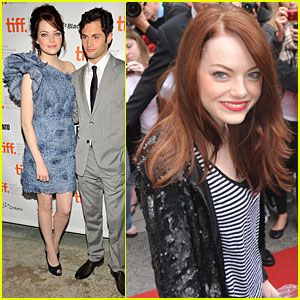Emma Stone Scores 'Easy A' at TIFF with Penn Badgley!