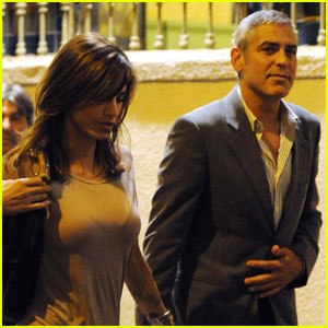 George Clooney & Elisabetta Canalis: Dinner Date in Milan