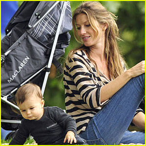 Gisele Bundchen & Baby Benjamin Play at the Park