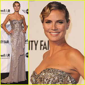 Heidi Klum: amfAR Milano At Milan Fashion Week