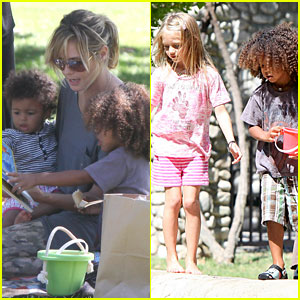 Heidi Klum: Family Picnic at the Park!