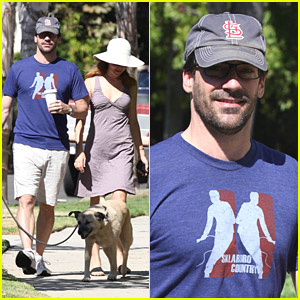 Jon Hamm: Dog Walk with Jennifer W