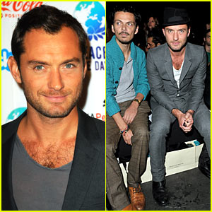 Jude Law: Front Row at Sienna Miller's Fashion Show!