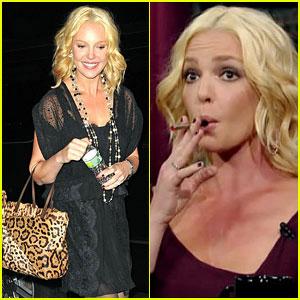Katherine Heigl & David Letterman Smokestik It Up