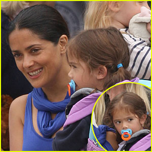 Salma Hayek: Picking Up Valentina from Pre-School!