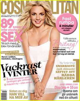 Britney Spears Covers 'Cosmopolitan Sweden' November 2010