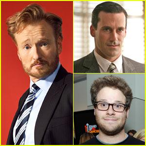 Conan's First Guests: Seth Rogen, Jack White, Jon Hamm!