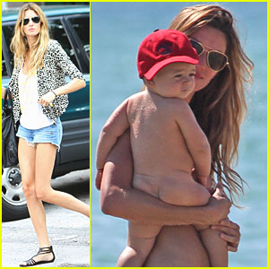 Gisele Bundchen: Beach with Benjamin!