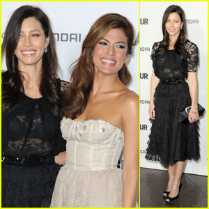 Jessica Biel &#038; Eva Mendes: 'Glamour' Directing Duo!