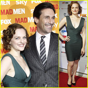 Jon Hamm & Elisabeth Moss Get 'Mad' in Germany