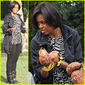 Michelle Obama Shows Off Her Green Thumb