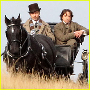 Jude Law Shoots 'Sherlock Holmes 2' with Robert Downey Jr.