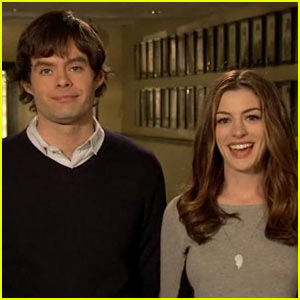 Anne Hathaway: 'Saturday Night Live' Promos with Bill Hader!