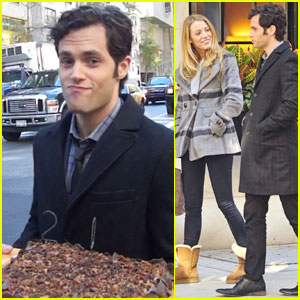 Blake Lively Bakes Penn Badgley Birthday Cake