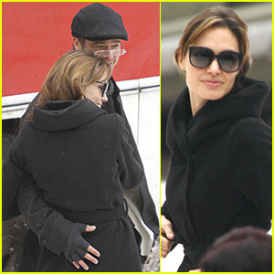 Angelina Jolie & Brad Pitt Weather The Winter