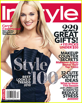 Carrie Underwood Covers 'InStyle' December 2010