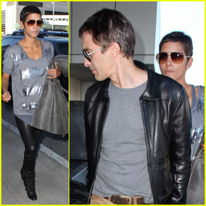 Halle Berry & Olivier Martinez Leave Los Angeles