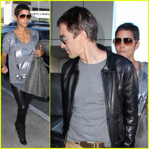 Halle Berry & Olivier Martinez Leave Los Angeles