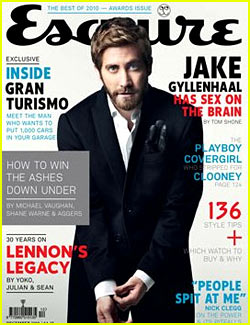 Jake Gyllenhaal Covers 'Esquire UK' December 2010