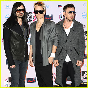 Thirty Seconds to Mars: MTV EMAs 2010 Red Carpet