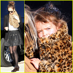 Jessica Alba & Honor Warren: Matching Animal Prints!