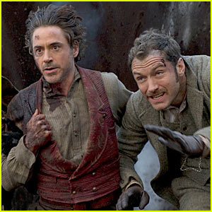 Jude Law & Robert Downey, Jr.: 'Sherlock Holmes 2' Still!