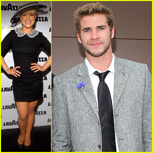 Liam Hemsworth & Kelly Osbourne: Rainy Derby Day