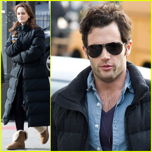 Leighton Meester & Penn Badgley: Down Jacket Duo