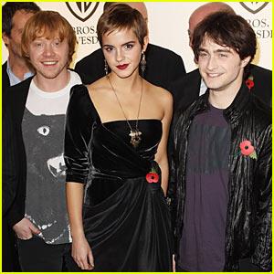 Rupert Grint, Emma Watson & Daniel Radcliffe: London Photocall