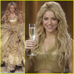 Shakira: Shimmery Shoot for Freixenet