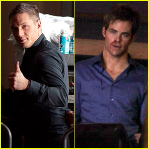 Tom Hardy & Chris Pine: Bloody and Bruised for 'War'