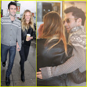 Adam Levine & Anne Vyalitsyna Opt for Optical