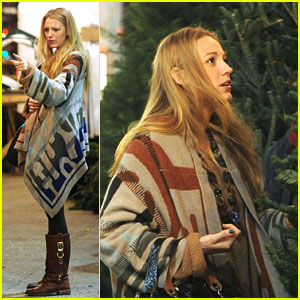 Blake Lively: Christmas Tree Shopping!