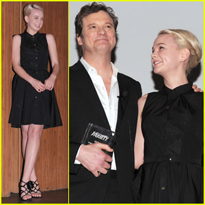 Carey Mulligan: Dubai Award Ceremony with Colin Firth
