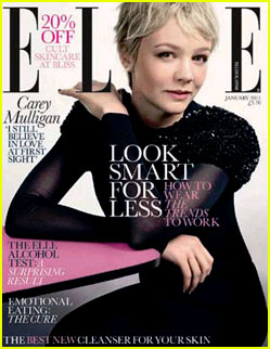 Carey Mulligan Covers 'Elle UK' January 2011
