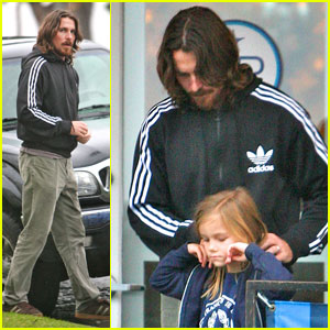 Christian Bale Bundles Up at