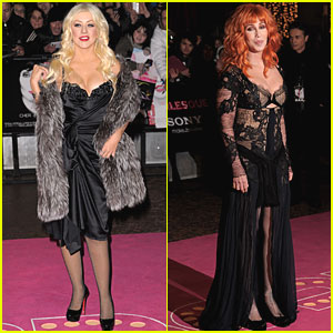 Christina Aguilera: 'Burlesque' London Premiere with Cher!