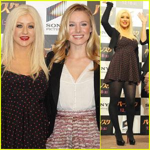 Christina Aguilera & Kristen Bell: 'Burlesque' in Tokyo!