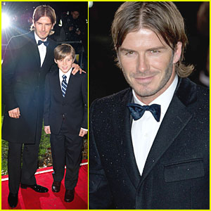 David Beckham & Brooklyn Suit Up for Sun Milita
