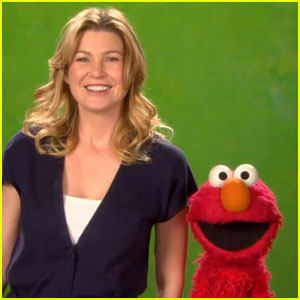 Ellen Pompeo Gets Healthy On Sesame Street