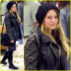 Hilary Duff: Bundled Up at Barneys