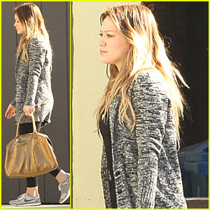 Hilary Duff Works It Out in Studio City