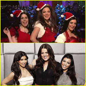 Happy Holidays From The Kardashians -- SNL Spoof Video