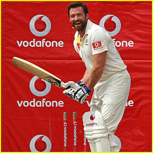 Hugh Jackman Plays Cricket, Gets Hit In Groin -- VIDEO