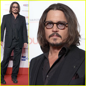 Johnny Depp Premieres 'The Tourist' in Rome
