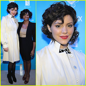 Katharine McPhee & Monique Coleman Light The UNICEF Snowflake