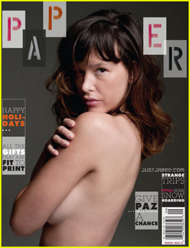Paz de la Huerta Covers 'Paper' Winter 2010